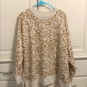Aerie Leopard Pullover